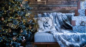 Come over all Hygge with a 7ft flocked tree, €218; House of Fraser, Dundrum Shopping Centre, Dublin 14