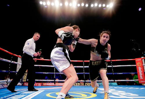 Boxing Britain - Katie Taylor v Karina Kopinska - SSE Arena, Wembley - 26/11/16 Katie Taylor in action with Karina Kopinska Action Images via Reuters / Henry Browne Livepic EDITORIAL USE ONLY.