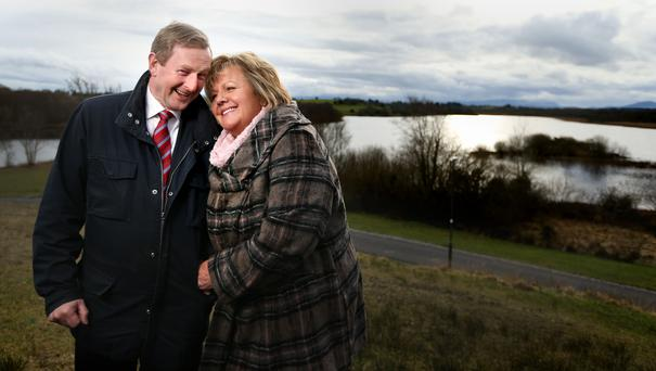 Support: Taoiseach Enda Kenny and his wife Fionnuala are approaching their silver wedding anniversary. Photo: Gerry Mooney
