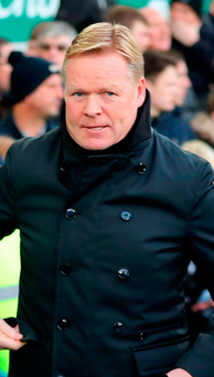 Everton manager Ronald Koeman. Photo: Peter Byrne/PA