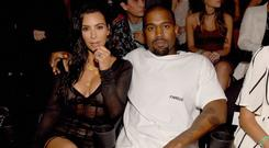 TROUBLE AND STRIFE: American reality TV personality Kim Kardashian and husband Kanye West are paying the price for their pumped-up celebrity profile Picture: WireImage