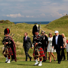 Donald Trump during the re-opening of the Ailsa Course at the Trump Turnberry Resort in June of this year. Photo: Getty