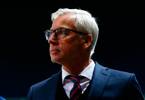 Crystal Palace manager Alan Pardew at the end of the match. Photo: Peter Cziborra/Reuters