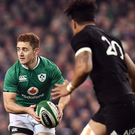 Paddy Jackson during the Autumn International match between Ireland and New Zealand at the Aviva Stadium in Dublin Photo: Ramsey Cardy/Sportsfile