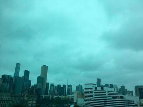Storm clouds gathered Monday over Melbourne, Australia, before a major thunderstorm unleashed an outbreak of a rare form of asthma. Australia Bureau of Meteorology