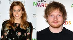 Princess Beatrice and Ed Sheeran