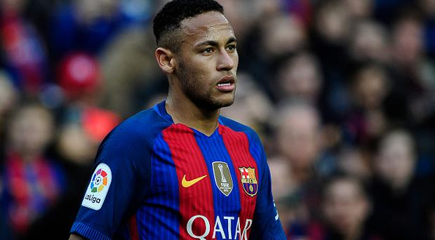 BARCELONA, SPAIN - NOVEMBER 19: Neymar Jr. of FC Barcelona during the Spanish League match between FC Barcelona vs Malaga C.F. at Camp Nou Stadium, on November 19, 2016 in Barcelona, Spain. (Photo by Joan Cros Garcia/Corbis via Getty Images)