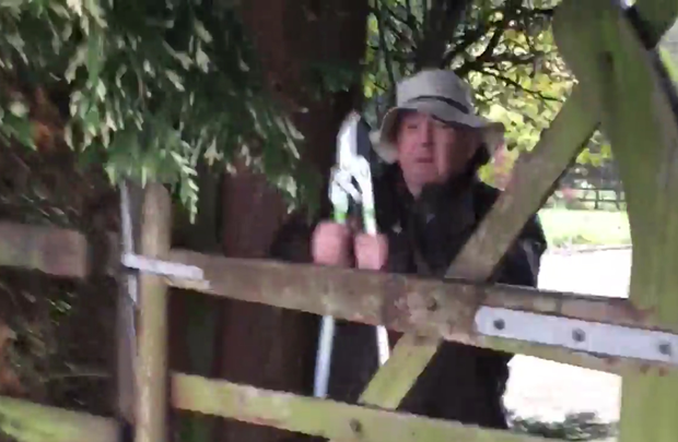A still image from Paul Williams's documentary 'State of Fear' shows John Gilligan as he was confronted by the journalist at Jessbrook Equestrian Centre in Co Kildare. Photo: TV3