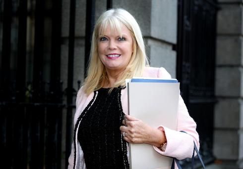 Jobs Minister Mary Mitchell O'Connor in Brussels talks Picture: Tom Burke