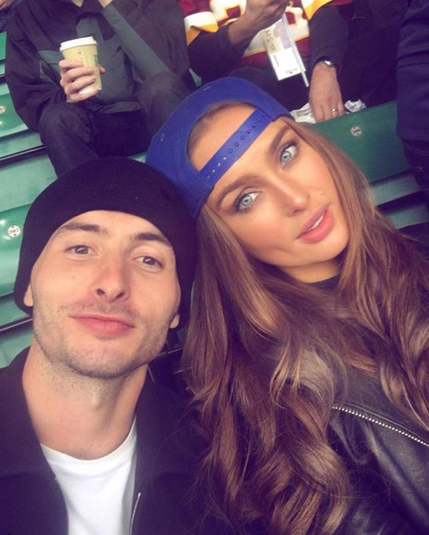 Model Roz Purcell with boyfriend Zach Desmond. Picture: Instagram
