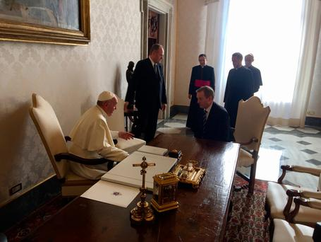 Pope Francis meets with Taoiseach Enda Kenny in Rome