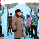 North Korean leader Kim Jong Un visits Samjiyon County in this undated photo released by North Korea's Korean Central News Agency (KCNA) in Pyongyang November 28, 2016. REUTERS/KCNA