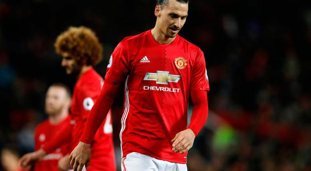 Manchester United's Zlatan Ibrahimovic after the game