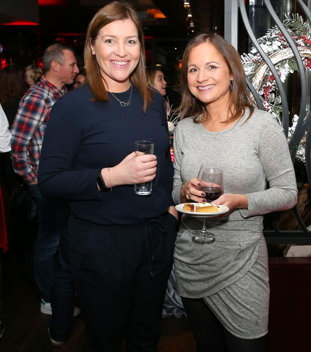 Marcella O'Shaughnessy and Sandra Bothwell pictured at SuperValu's celebration of local and Irish at Christmas event in Charlotte Quay. Pic: Marc O'Sullivan