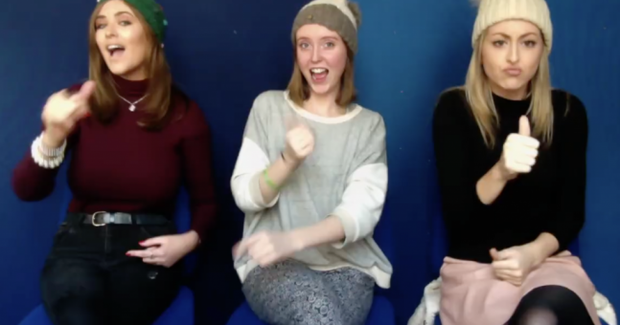 Amy Durkin, Abbie O'Neill, and Joanne O Donnell have created a Christmas Carol using Irish Sign Language