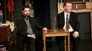 Paul McCorry ('Father Welsh') and James McMahon ('Coleman') in Martin McDonagh's The Lonesome West. Pic: Adrian Weckler