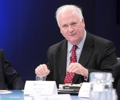 Former Taoiseach John Bruton. Photo: by Claire Greenway/Getty Images