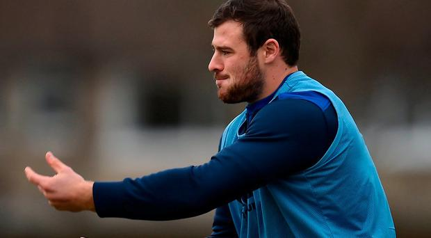 Robbie Henshaw was back in training yesterday with Leinster after missing the Australia victory on Saturday. Photo: David Fitzgerald/Sportsfile
