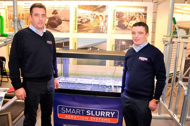 Managing director Pat O'Donovan and technical manager Rick Crowley were on the stand to discuss the Smart Slurry aeration system with farmers