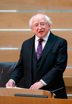 President Michael D Higgins. Photo credit: Jane Barlow/PA Wire