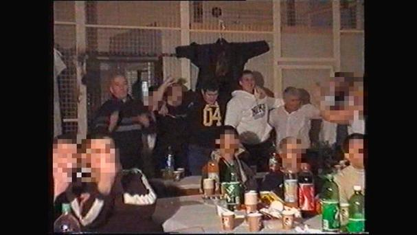 John Gilligan parties with inmates at Portlaoise prison. Picture: TV3/Paul Williams: State of Fear