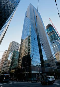 FILE - In this Sept. 26, 2016 file photo, is the Millennium Tower in San Francisco. Engineers in San Francisco have tunneled underground to try and understand the sinking of the 58-story Millennium Tower. Now comes an analysis from space. The European Space Agency has satellite imagery it says confirms the skyscraper, which has sunk 16 inches, is steadily sinking at a rate of almost 2 inches a year. (AP Photo/Eric Risberg, File)