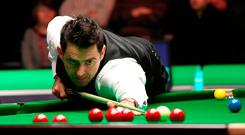 Ronnie O'Sullivan in action against Michael Georgiou, during day six of the Betway UK Championships 2016, at the York Barbican yesterday