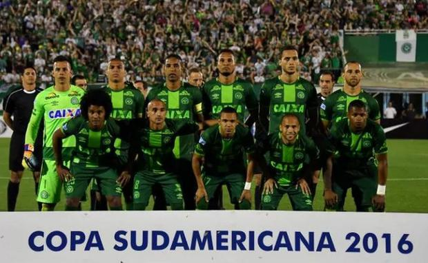Brazilian side Chapecoense were travelling to a cup final when their plane crashed in Colombia CREDIT: NELSON ALMEIDA/ AFP