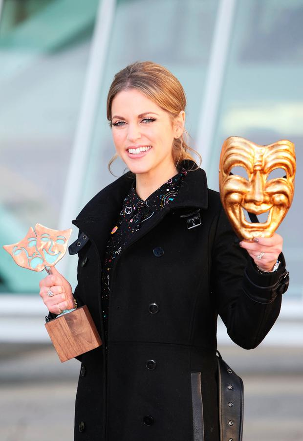 Amy Huberman was announced as a judge for the Bord Gais Energy Student Theatre Awards. Picture: Leon Farrell/Photocall Ireland