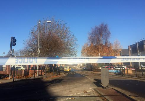 General view of the cordoned-off scene around Charles Street, in Hull, where a 31-year-old man was shot and injured by police Photo : Amy Murphy/PA Wire
