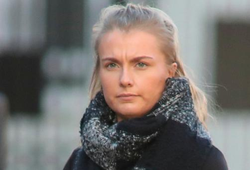 Ailbhe Cole leaving the High Court. Photo: Collins Courts