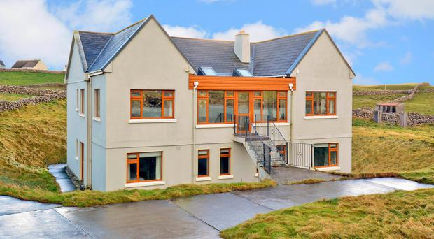 The house belonging to Barry O'Sullivan which is being sold off to aid Focus Ireland