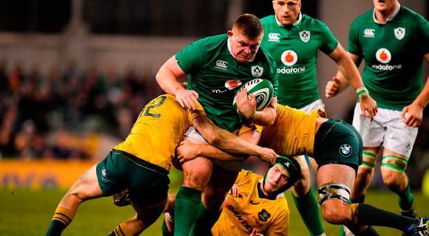 Tadhg Furlong has been very effective for Ireland in the loose during November