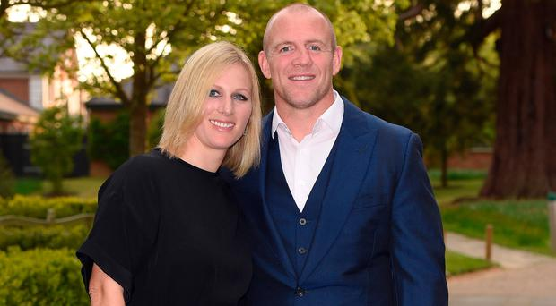 Zara Phillips and Mike Tindall attend an evening reception for the ISPS Handa Mike Tindall 3rd annual celebrity golf classic at The Grove Hotel on May 8, 2015 in Hertford, England. (Photo by Karwai Tang/WireImage)