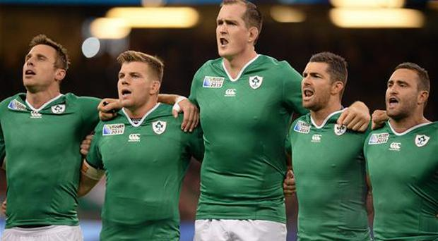 Tommy Bowe (far left) is in favour of the introduction of bonus points to the Six Nations