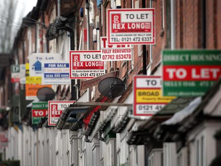 It now costs close to €1,000 nationwide to rent the typical property. Stock Image: GETTY