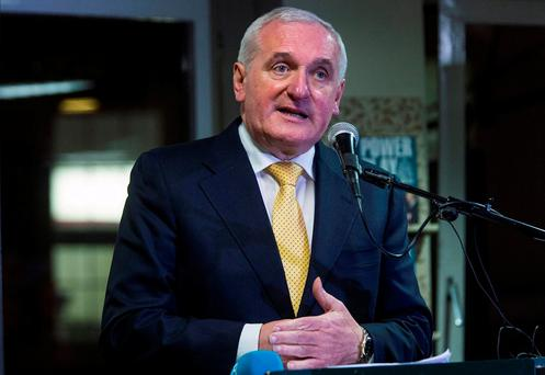 Former taoiseach Bertie Ahern has been invited to rejoin FF's Dublin Central branch. Photo: Arthur Carron