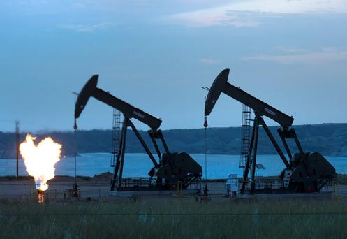 Fracking involves drilling down into the earth before a high-pressure mixture of water and chemicals is used to shatter shale rock to release natural gas. Photo: GETTY