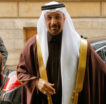 Saudi Arabia's Energy Minister Khalid al-Falih arrives for a meeting of the Organization of the Petroleum Exporting Countries (OPEC) in Vienna