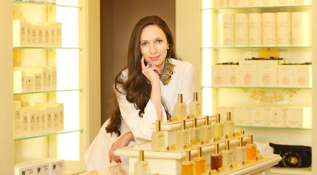 Marija Aslimoska in her Santa Maria Novella store on the Westbury Mall. Photo: Leon Farrell