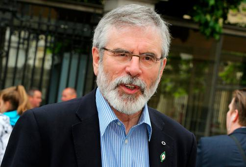 Sinn Féin leader Gerry Adams. Photo: Tom Burke