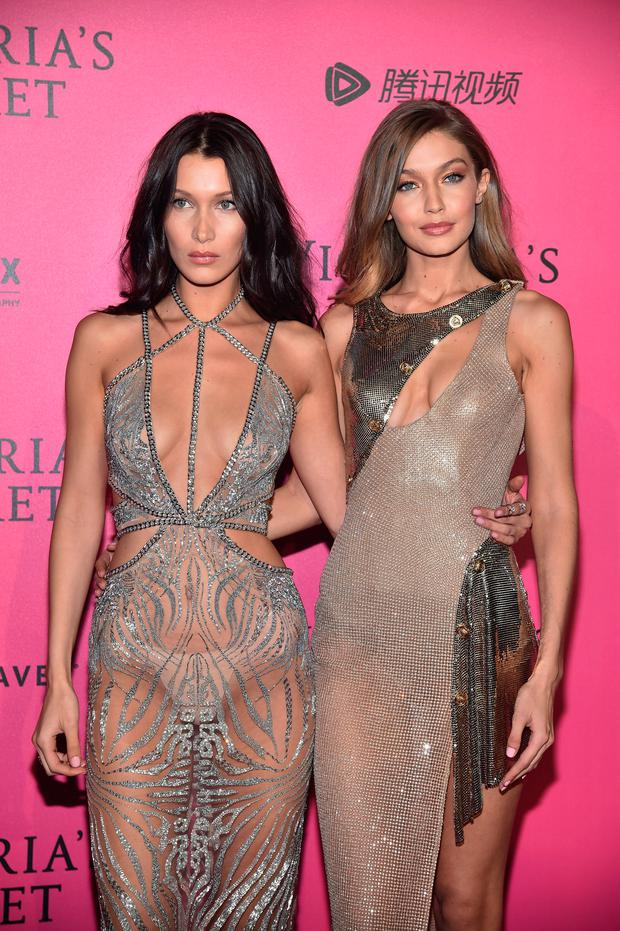 (L-R) Bella Hadid and Gigi Hadid attend the 2016 Victoria's Secret Fashion Show after party on November 30, 2016 in Paris, France. (Photo by Pascal Le Segretain/Getty Images for Victoria's Secret)