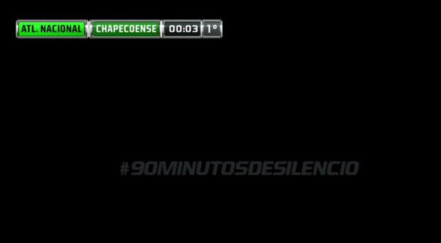 The message shown during the broadcast on Fox Sports Brasil