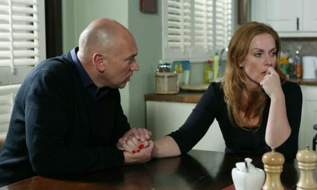 Tensions will run high between Niamh and love rat Paul. Image: RTE/ Fair City