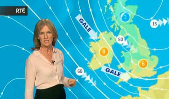 RTE weather presenter Joanna Donnelly wished everyone 'The best of luck' as she wrapped up the forecast last night