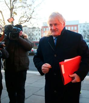 Businessman Denis O'Brien arrives at the Four Courts in Dublin. Photo: Brian Lawless/PA Wire