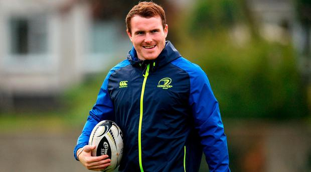 Peter Dooley of Leinster during squad training at UCD in Belfield, Dublin. Photo by Seb Daly/Sportsfile