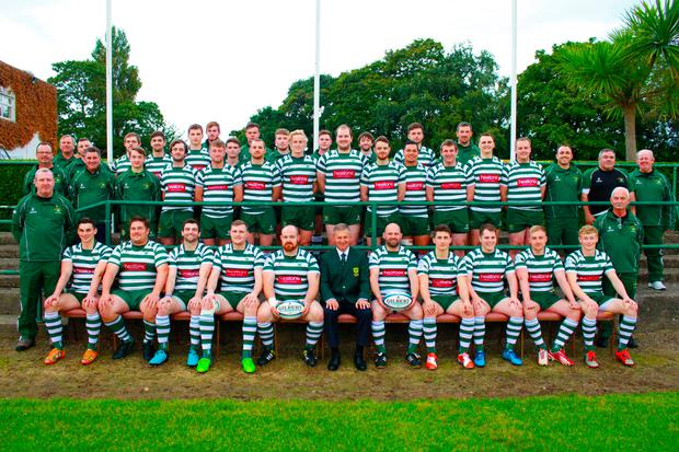The 2016/2017 Greystones RFC first team