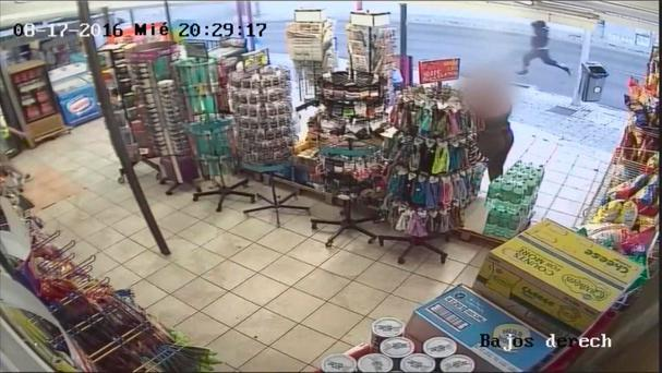 CCTV Footage of the murder suspect of Trevor O'Neill. Credit: RTE Prime Time