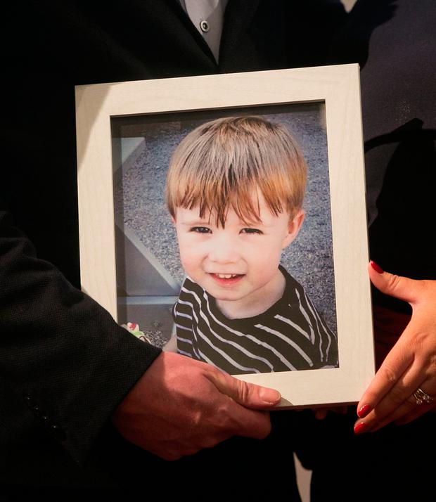 Their four-year-old son Ciaran, who was killed by a drunk driver. Photo: Gareth Chaney/Collins